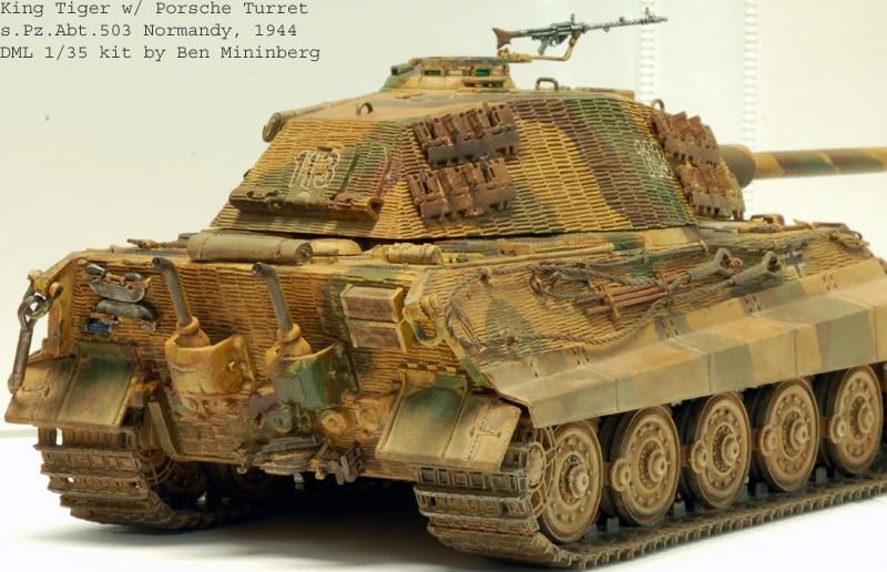 Dml King Tiger W Porsche Turret And Zimm Prometheus