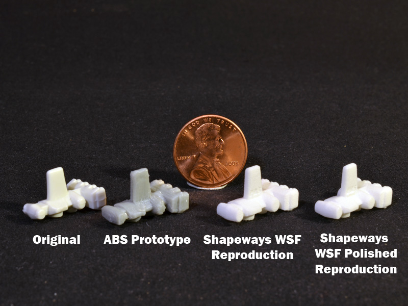 3D Printed Reproduction Mini Blockade Runner for use with Kenner