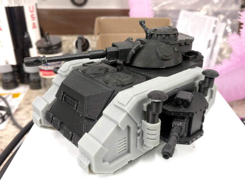 PRHI Warhammer 40k 3D Printed Death Guard Deimos Predator Tanks